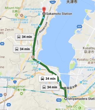 Ishiyamadera St to Sakamoto St