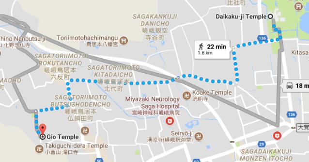 Daikaku-ji to Gioji